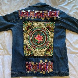 Embroidered Boho Jean Jacket